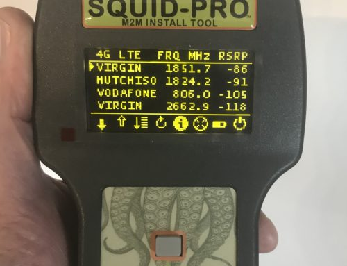 SQUID-PRO LTE cell site signal level tester for M2M solutions