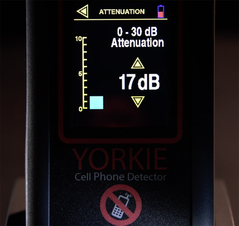 Yorkie Mobile Phone Detector Adjustable Attenuation - G8 LMW Consulting