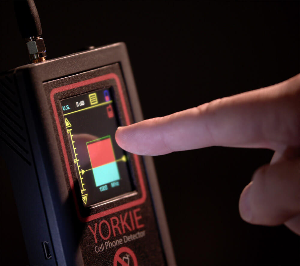 Yorkie Mobile Phone Detector Colour Touchscreen - G8 LMW Consulting