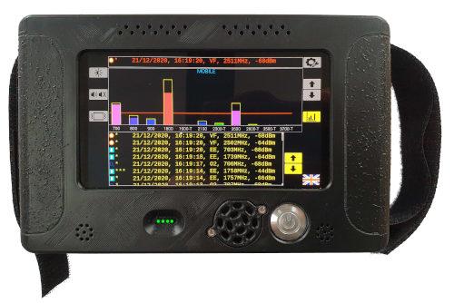 Handheld Mobile Phone Detector - Comms-Tek Hunter